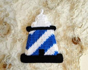 Crochet Pattern - Lighthouse Potholder Crochet Pattern #305 - Instant Download PDF