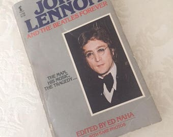 Vintage John Lennon and the Beatles Forever Book, 1978, Vintage Beatles Book