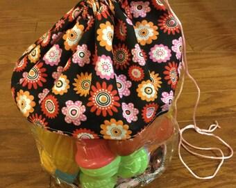 Clear Plastic Toy Storage Bag Pink Flower Bag Plastic Storage Bags Toy Storage Bag Hair Accessory Storage Girls Room Decor Toy Bag & Handmade Purses Childrenu0027s items u0026 Holiday Decor by BagsByBetty54
