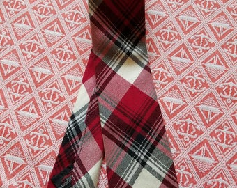 Tartan Wool 60's Tie