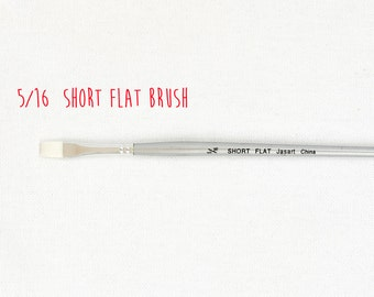 Paint brush - size 5/16 short flat brush - synthetic fine - acrylic paint brush