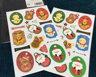 Xmas stickers for wrapping. 2Sheets