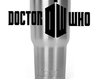 Custom Laser Engraved to order 30 oz Stainless Steel tumbler Dr Who