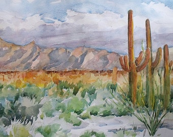 Watercolor Painting Tucson, Arizona