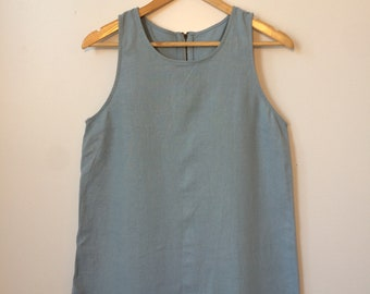 Light Blue  Sleeveless Jumper Mini Dress Size Medium