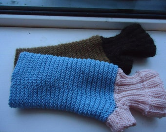 Pattern for Two Tone Handwarmers