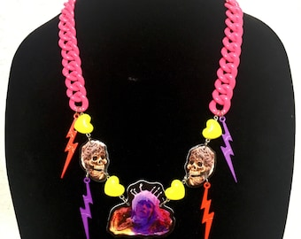 Creepshow Fathers Day 80s Necklace