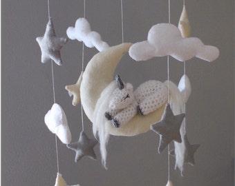 unicorn baby mobile bebe unicorns nursery decor nursery mobile baby gift