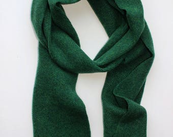 Forest Green Lambswool Scarf