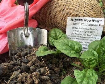 Alpaca Poo Tea Soil Condtioner - All Natural 6x10 Burlap Bag Organic