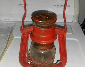 Barn Lantern - Miniature Winged Wheel Red No 350