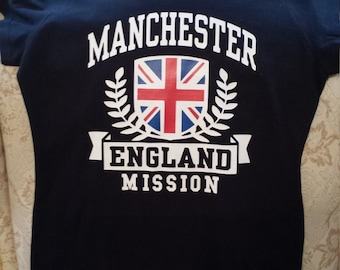 Adult Custom LDS Missionary Shirt w/ any Mission name Great for Homecoming at Airport