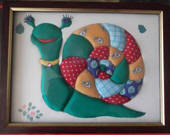 foam frame for nursery fabric and cardboard
