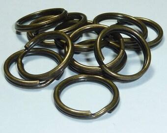 12 rings double 15mm metal bronze