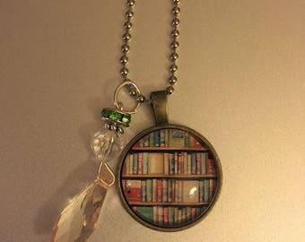 Handmade Book Charm Necklace