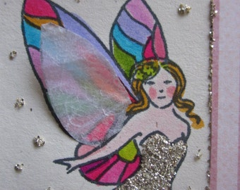 fairy, aceo trading card, girl, set of 10, party favors/gifts