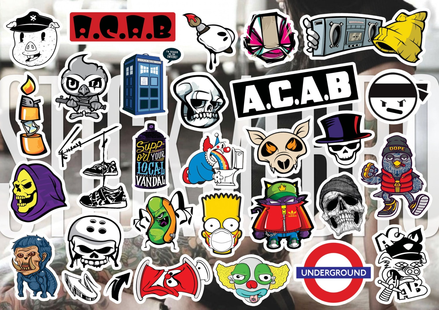 ACAB / A.C.A.B Story, Funny Decals, Hipster Vinyl Tumblr