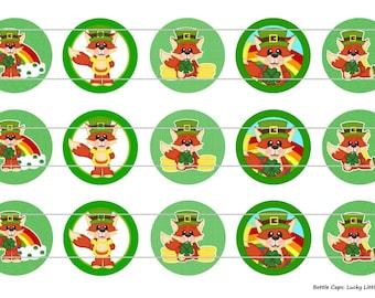 "15 Lucky Little Fox 1 Digital Download for 1"" Bottle Caps (4x6)"