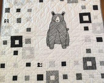 patchwork quilt, handmade quilt, baby gift, handmade gift, unique gifts, crib/stroller quilt, modern quilt, quilt, quilts, hand quilted