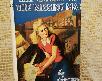 Carolyn Keene 1942 Nancy Drew The Quest of the Missing Map Hard Cover Book with Dust Jacket Grosset & Dunlap Book 19