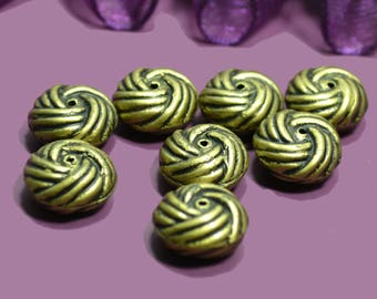20 beads balls 12mm bronze resin