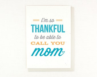 Mother's Day Card, So Thankful, card for mom, dollar sale, thankful for mom, best mom, i love mom, card for other mom, mom figure