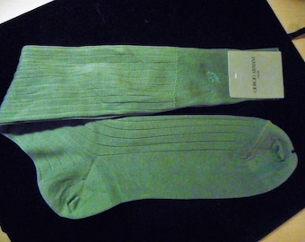 Vintage Mens Socks 80's   Made by GIORGIO ARMANI    Never Worn,    Still With Tags On