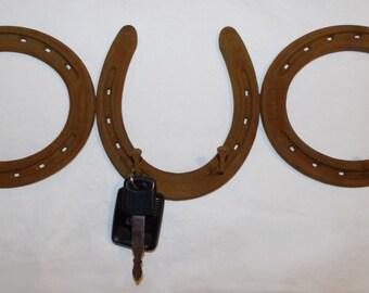 Horseshoe Key Hook Organizer Rack