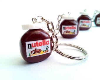 Nutella Keychain, Polymer Clay, Miniature Food, Nutella, Kawaii