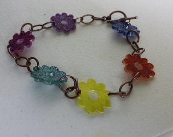 Fun Flirty Flower Bracelet