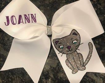 Kitty Cheer Bow, Cat Cheer Bow