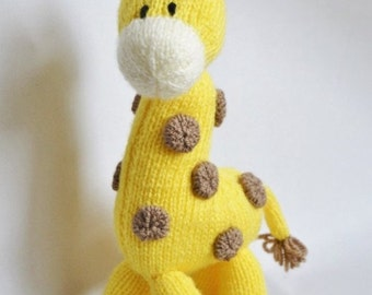 Giraffe Knitting Pattern, Giraffe Knit Pattern, Giraffe Toy Knitting Pattern, Soft Toy Knitting Pattern, Wildlife Knitting Pattern