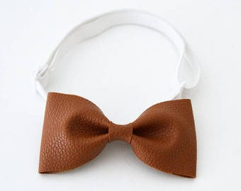 Faux Leather Bow Ties for Little Gents