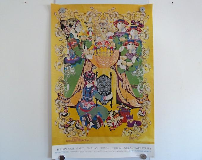 Bjorn Wiinblad Poster Arabian nights Fourth theme 1973 print