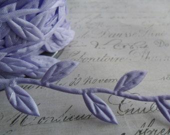 Lovely Lavender Ribbon of Leaves and Trailing Vine Trim