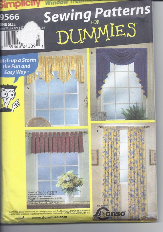 Simplicity Pattern 9566 - Sewing for Dummies - Window Treatments ...