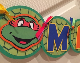 Teenage Mutant Ninja Turtles NAME ONLY Banner