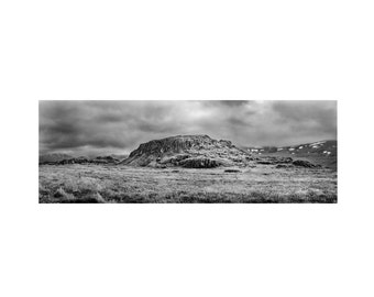 iceland photography, black and white art, iceland art, black and white, landscape photography, black and white photography, panoramic art