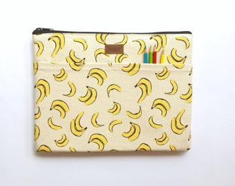 """11 Inch Laptop Case,11 Inch laptop Sleeve,11 Inch MacBook Air Sleeve,11 Inch Macbook Air Case, Dell Chromebook 11.6"""" - Tropical Fruit Banana"""
