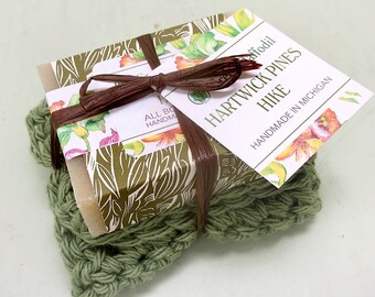 Hartwick Pines Hike Soap and Washcloth Kit