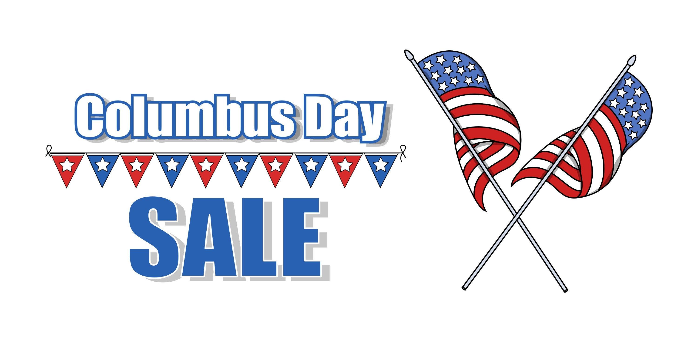 Columbus Day Flag Banner-Digital Clipart-Gift