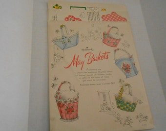 vintage HALLMARK MY Baskets  paper kit