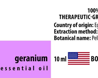 Geranium 100% Pure Essential Oil from Egypt 10ml