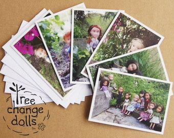 Set of 6 blank Tree Change Dolls® greeting cards, original photos by artist Sonia Singh