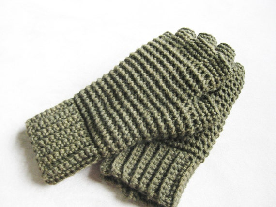 Mens Thermal Fingerless Gloves Crochet Pattern From Kickincrochet