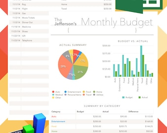 Monthly Financial Budget Spreadsheets (EDITABLE and PRINTABLE!)