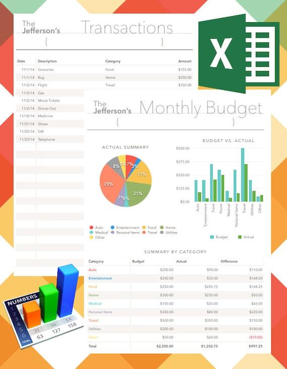 Monatliche Finanzplanung Tabellen EDITIERBAR und druckbare
