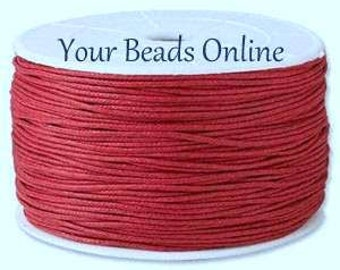 Wax Cotton Cord 1mm Dark Red 8 yards or 24 feet 26 Colors Available