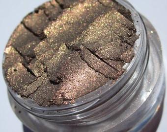 Dark Brown Mineral Vegan Eyeshadow | Pink & Gold Shimmers | Loose Pigments | Cruelty-Free | Minerals Eye Shadow - Metal Rose