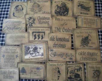 Olde Fashioned Christmas Prim Pantry Label Set